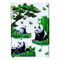 Cute Panda Cartoon Apple Ipad Mini Hardshell Case by Simbadda