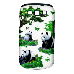 Cute Panda Cartoon Samsung Galaxy S Iii Classic Hardshell Case (pc+silicone) by Simbadda