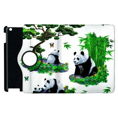 Cute Panda Cartoon Apple Ipad 3/4 Flip 360 Case by Simbadda