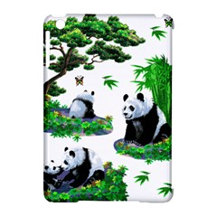 Cute Panda Cartoon Apple Ipad Mini Hardshell Case (compatible With Smart Cover) by Simbadda