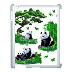 Cute Panda Cartoon Apple Ipad 3/4 Case (white) by Simbadda