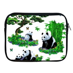 Cute Panda Cartoon Apple Ipad 2/3/4 Zipper Cases by Simbadda