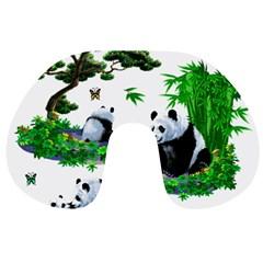 Cute Panda Cartoon Travel Neck Pillows by Simbadda