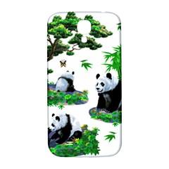 Cute Panda Cartoon Samsung Galaxy S4 I9500/i9505  Hardshell Back Case by Simbadda