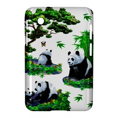 Cute Panda Cartoon Samsung Galaxy Tab 2 (7 ) P3100 Hardshell Case  by Simbadda