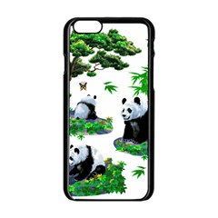 Cute Panda Cartoon Apple Iphone 6/6s Black Enamel Case by Simbadda