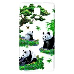 Cute Panda Cartoon Galaxy Note 4 Back Case Front
