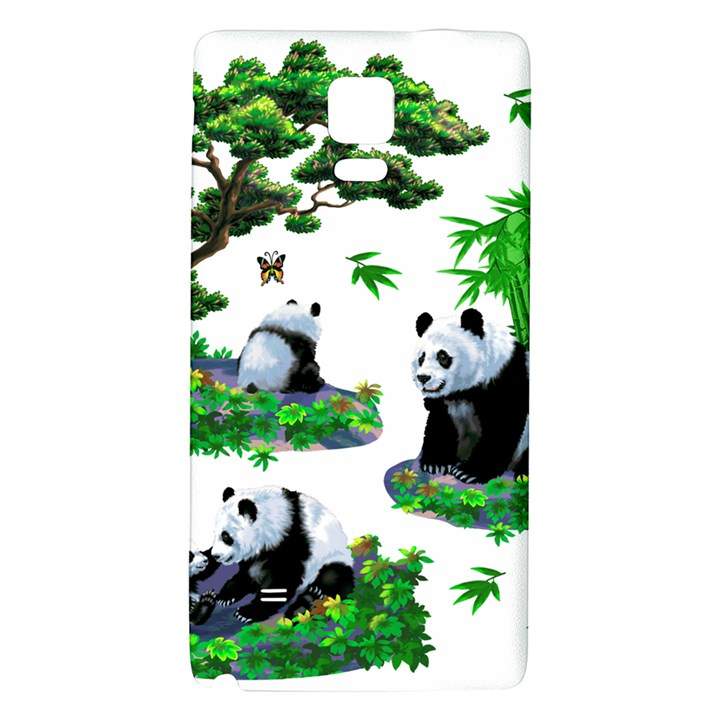 Cute Panda Cartoon Galaxy Note 4 Back Case