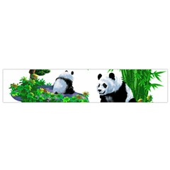 Cute Panda Cartoon Flano Scarf (small) by Simbadda