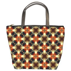 Kaleidoscope Image Background Bucket Bags by Simbadda