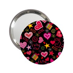 Love Hearts Sweet Vector 2 25  Handbag Mirrors by Simbadda
