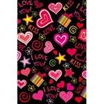 Love Hearts Sweet Vector 5.5  x 8.5  Notebooks Back Cover
