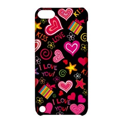Love Hearts Sweet Vector Apple iPod Touch 5 Hardshell Case with Stand by Simbadda