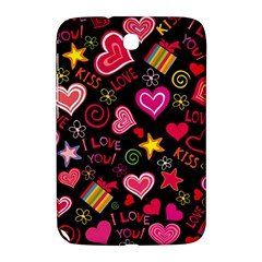 Love Hearts Sweet Vector Samsung Galaxy Note 8 0 N5100 Hardshell Case  by Simbadda