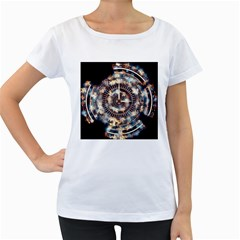 Science Fiction Background Fantasy Women s Loose-Fit T-Shirt (White)