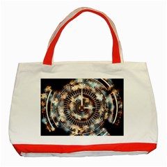 Science Fiction Background Fantasy Classic Tote Bag (red) by Simbadda
