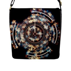 Science Fiction Background Fantasy Flap Messenger Bag (l)