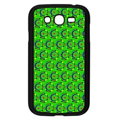 Green Abstract Art Circles Swirls Stars Samsung Galaxy Grand DUOS I9082 Case (Black)