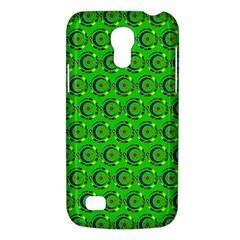 Green Abstract Art Circles Swirls Stars Galaxy S4 Mini by Simbadda