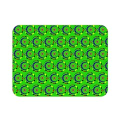 Green Abstract Art Circles Swirls Stars Double Sided Flano Blanket (Mini)