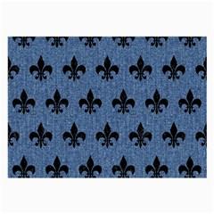Royal1 Black Marble & Blue Denim Large Glasses Cloth (2 Sides)