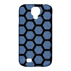 Hexagon2 Black Marble & Blue Denim (r) Samsung Galaxy S4 Classic Hardshell Case (pc+silicone) by trendistuff