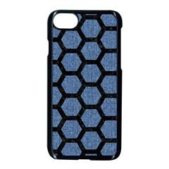 Hexagon2 Black Marble & Blue Denim (r) Apple Iphone 7 Seamless Case (black) by trendistuff