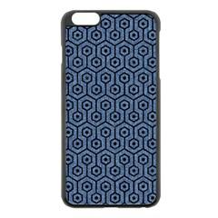 Hexagon1 Black Marble & Blue Denim (r) Apple Iphone 6 Plus/6s Plus Black Enamel Case by trendistuff