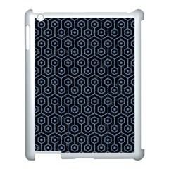 Hexagon1 Black Marble & Blue Denim Apple Ipad 3/4 Case (white) by trendistuff
