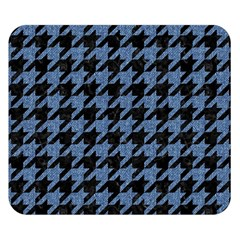 Houndstooth2 Black Marble & Blue Denim Double Sided Flano Blanket (small) by trendistuff