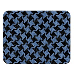 Houndstooth1 Black Marble & Blue Denim Double Sided Flano Blanket (large) by trendistuff
