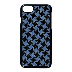 Houndstooth1 Black Marble & Blue Denim Apple Iphone 7 Seamless Case (black) by trendistuff
