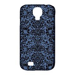 Damask2 Black Marble & Blue Denim (r) Samsung Galaxy S4 Classic Hardshell Case (pc+silicone) by trendistuff