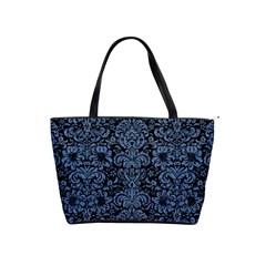 Damask2 Black Marble & Blue Denim Classic Shoulder Handbag by trendistuff