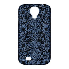 Damask2 Black Marble & Blue Denim Samsung Galaxy S4 Classic Hardshell Case (pc+silicone) by trendistuff