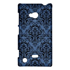 Damask1 Black Marble & Blue Denim (r) Nokia Lumia 720 Hardshell Case by trendistuff