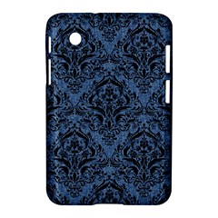 Damask1 Black Marble & Blue Denim (r) Samsung Galaxy Tab 2 (7 ) P3100 Hardshell Case  by trendistuff