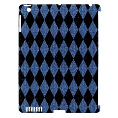 Diamond1 Black Marble & Blue Denim Apple Ipad 3/4 Hardshell Case (compatible With Smart Cover) by trendistuff