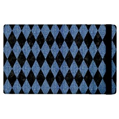 Diamond1 Black Marble & Blue Denim Apple Ipad 2 Flip Case by trendistuff