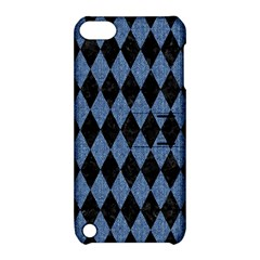 Diamond1 Black Marble & Blue Denim Apple Ipod Touch 5 Hardshell Case With Stand by trendistuff
