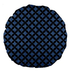 Circles3 Black Marble & Blue Denim (r) Large 18  Premium Round Cushion  by trendistuff