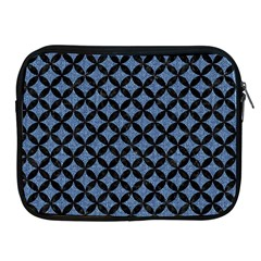 Circles3 Black Marble & Blue Denim (r) Apple Ipad Zipper Case by trendistuff