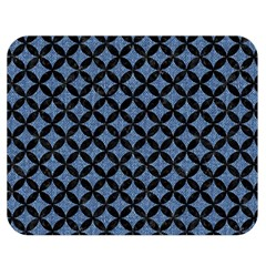 Circles3 Black Marble & Blue Denim (r) Double Sided Flano Blanket (medium) by trendistuff