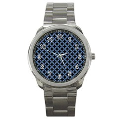 Circles3 Black Marble & Blue Denim Sport Metal Watch by trendistuff