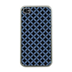Circles3 Black Marble & Blue Denim Apple Iphone 4 Case (clear) by trendistuff