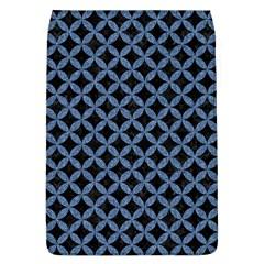 Circles3 Black Marble & Blue Denim Removable Flap Cover (l)