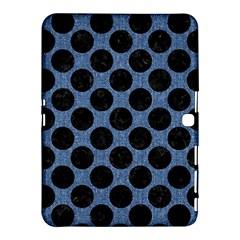 Circles2 Black Marble & Blue Denim (r) Samsung Galaxy Tab 4 (10 1 ) Hardshell Case  by trendistuff