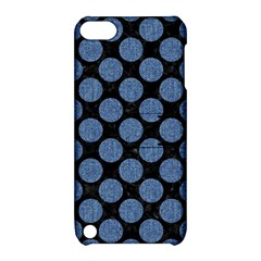 Circles2 Black Marble & Blue Denim Apple Ipod Touch 5 Hardshell Case With Stand by trendistuff