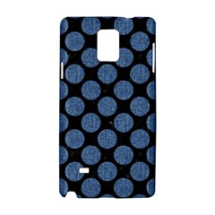 Circles2 Black Marble & Blue Denim Samsung Galaxy Note 4 Hardshell Case by trendistuff