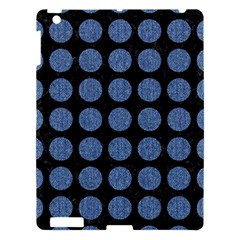 Circles1 Black Marble & Blue Denim Apple Ipad 3/4 Hardshell Case by trendistuff